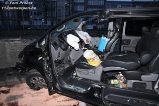 Zwaar ongeval met technische ontzetting net voor Bevrijdingstunnel (Antwerpen)