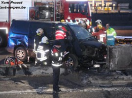 Antwerpen: Zwaar ongeval met technische ontzetting