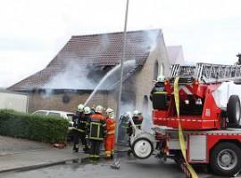 Deerlijk: Garage totaal vernield door brand