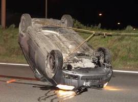 Moorsele: Bestuurder gewond nadat auto over de kop gaat