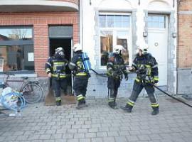 Kortrijk: Vonk zorgt voor brand in woning