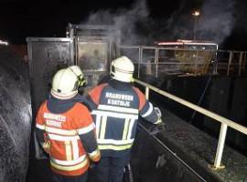 Harelbeke: Brand op bedrijfsterreinen Aquafin