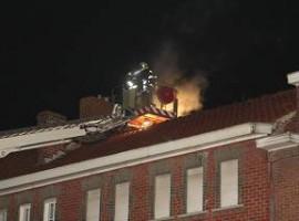 Kortrijk: Schoorsteen vat vuur