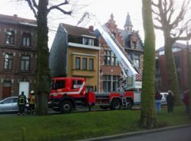 Kortrijk: schoorsteenbrand zorgt even voor paniek