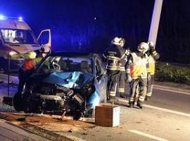 Waregem: Jonge bestuurder zwaar gewond bij ongeval