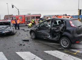 Roeselare : Zware botsing eist een zwaar gewonde vrouw