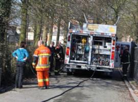 Zwevegem: Haagbrand in park te Zwevegem