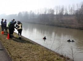 Moen: auto gevonden in het kanaal Kortrijk-Bossuit