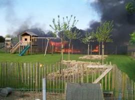 Deerlijk: Brand verwoest tuinhuis