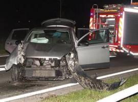 Kortrijk: Auto komt tegen verlichtingspaal terecht