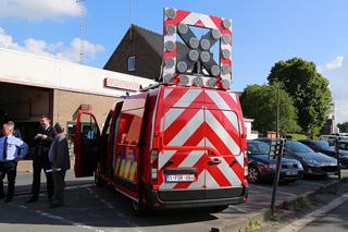 Nieuwe brandweervoertuigen in Waregem officieel in gebruik.