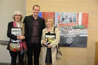 Winnaars prijs van het landschap: Giles Van Schuylenbergh, Greet Bogaert en Ludwine Pauwels