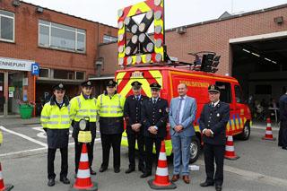 Nieuwe voertuigen voor de brandweer van Anzegem