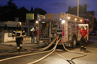 Brand in Intersun, speciaalzaak van zonnebanken in Zwevegem