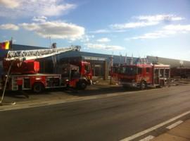 Kuurne: brand bij Volcke Aerosol Company