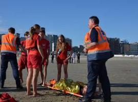 Blankenberge: Grootscheepse reddingsoefening op strand