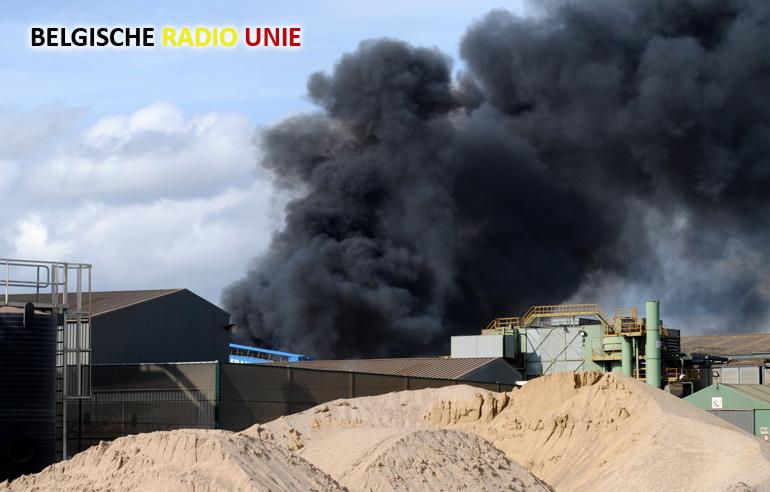 Bedrijfsbrand bij Galloo in Menen