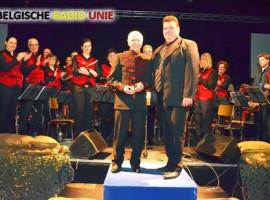 Kuurne: Koninklijke Harmonie Moed & vlijt huldigt Eric Christiaens