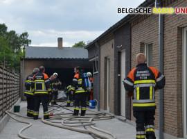 Brand in atelier snel onder controle