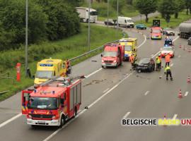 Twee gewonden bij zware klap op E17