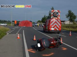 Motorrijder overleden na botsing