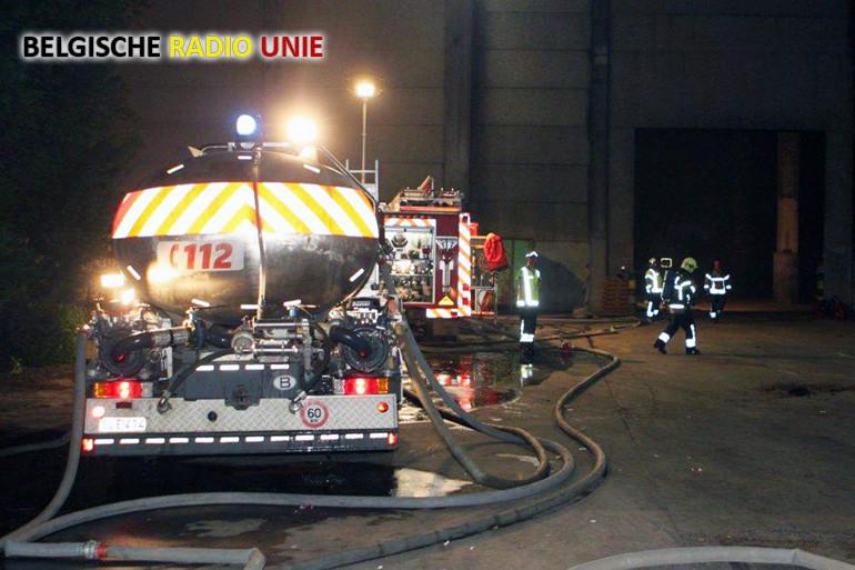 Brand in loods van afvalverwerkend bedrijf Vandewiele Recycling Wervik