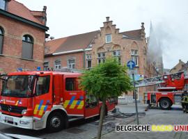 Kortsluiting zorgt voor brand in appartement in Ieperse binnenstad