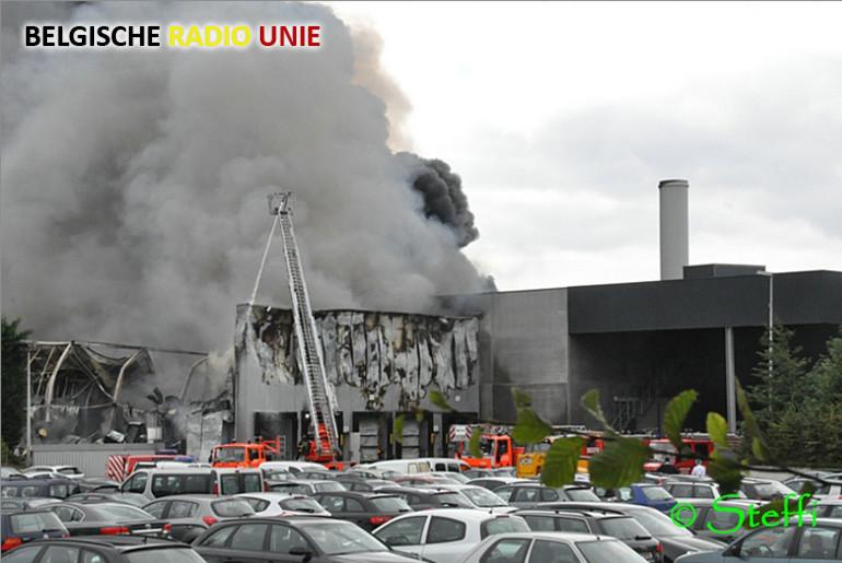 Hevige brand in Heuvelland bij Clarebout Potatoes