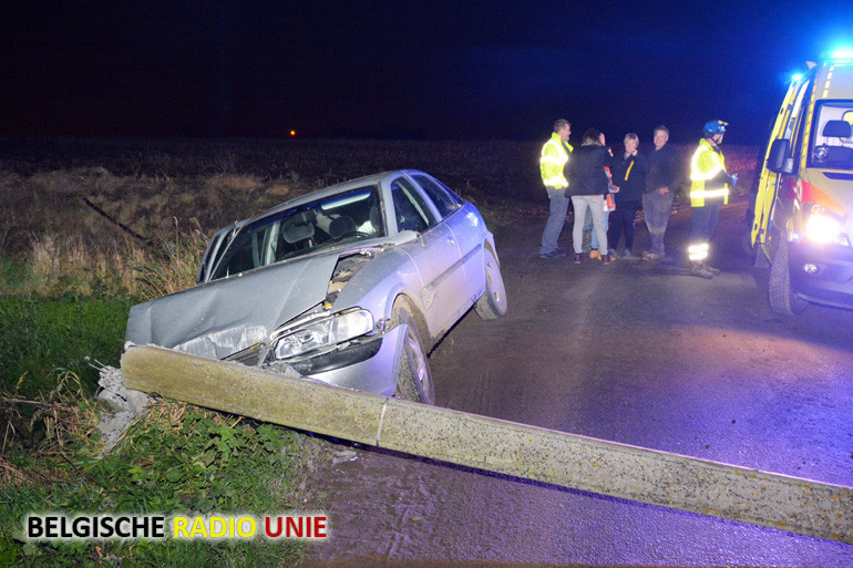 Drie licht gewonden bij crash in Moorslede