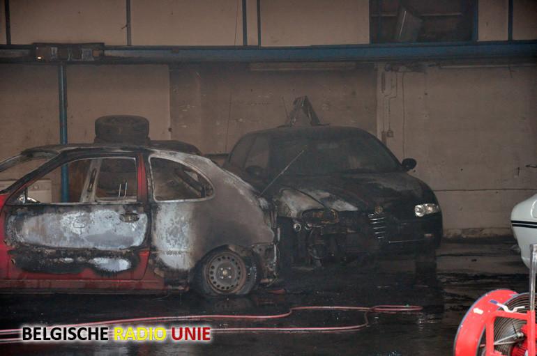 Werkzaamheden leiden tot brand in garage te Werken