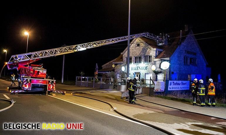 dakbrand in Hooglede