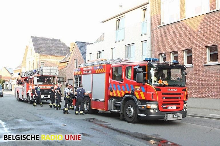 Brand in appartement in Wielsbeke