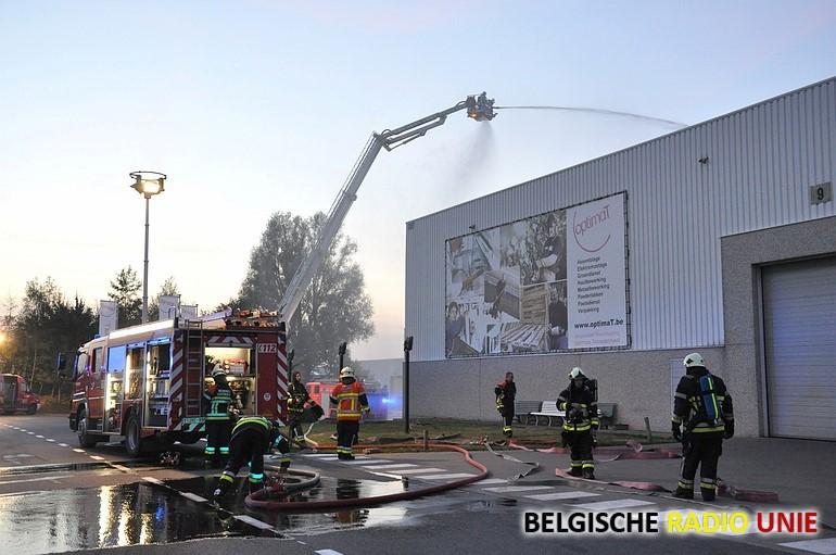 Grootschalige brandweeroefening in Lichtervelde