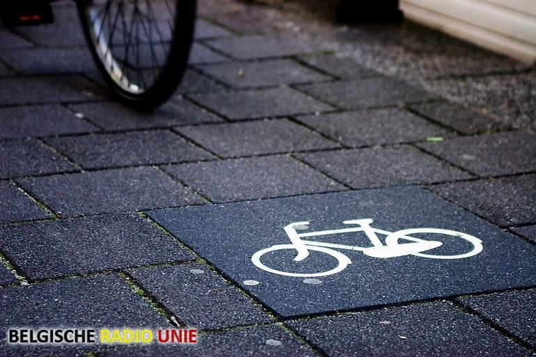 Hermarkering fietspad in Wevelgem