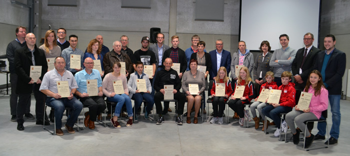 Verkiezing sportlaureaten 2015-2016 in Wervik