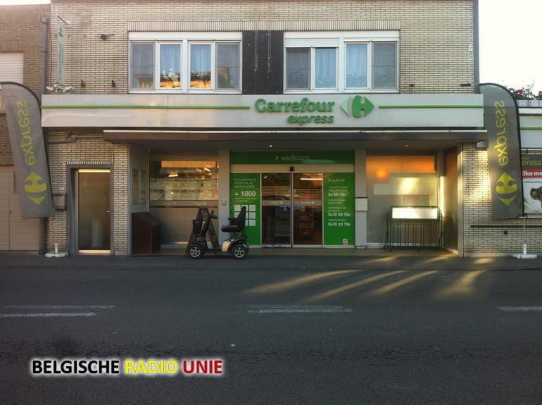 Voor de tweede keer werd Carrefour Express in Kuurne overvallen
