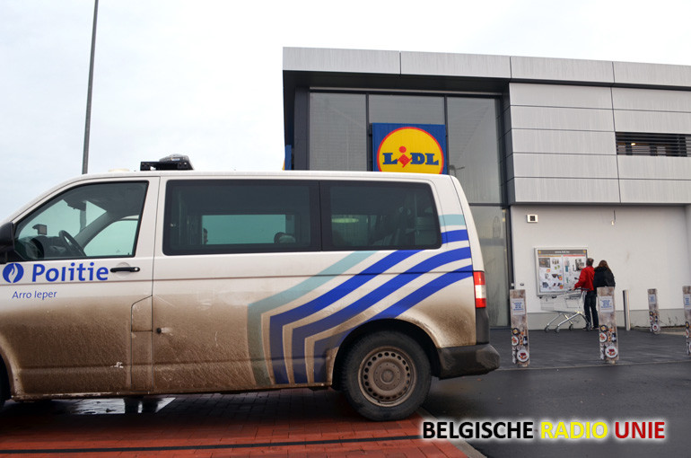 Overval op de parking van Lidl in Geluwe