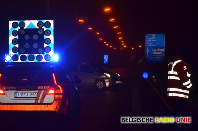 Verschillende ongevallen op de A19 en R8 wegens glad wegdek