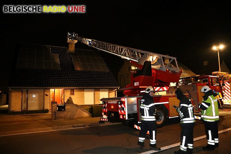 Brandweer rukt uit voor schoorsteenbrand