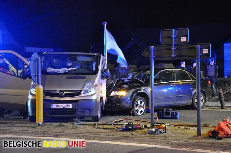 Vier gewonden in Koekelare