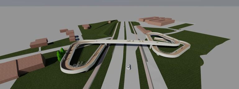 Aanleg fietsers- en voetgangersbrug over N36 in Deerlijk