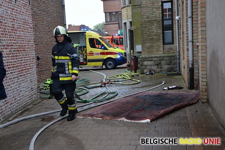 brandend tapijt Ardooie