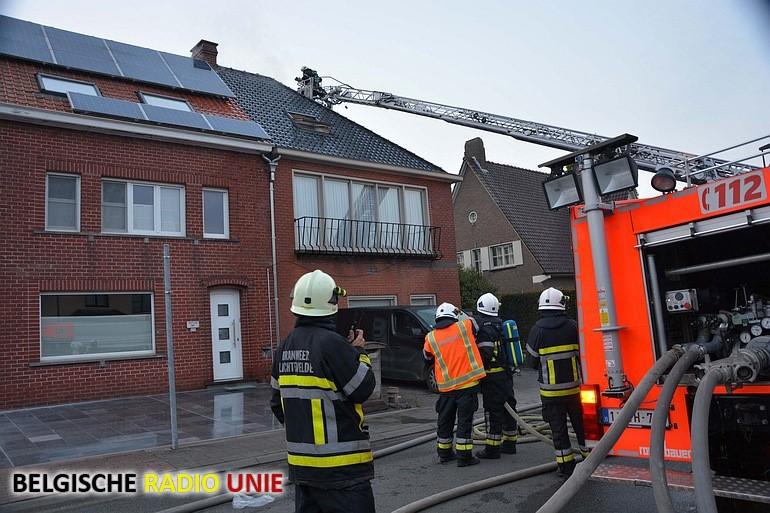 Zware brand vernielt zolderverdieping