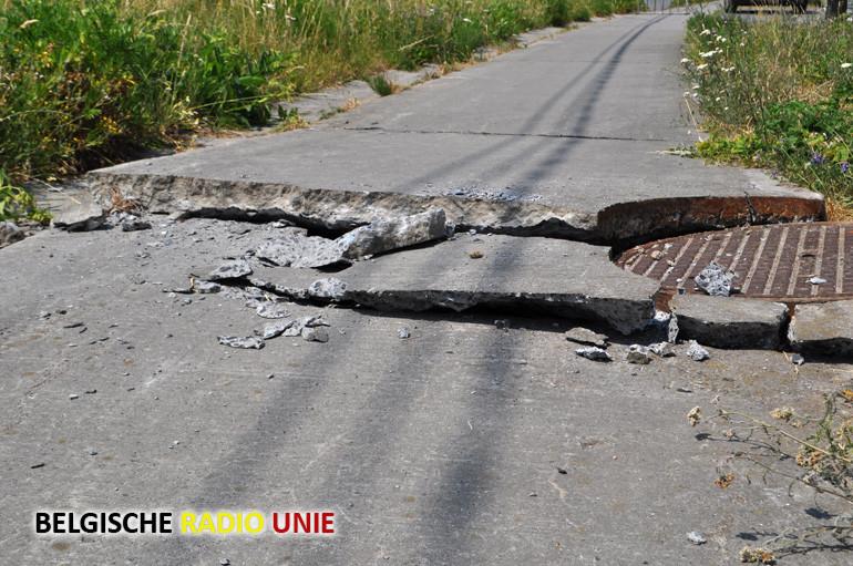 Schade aan wegdek en fietspaden door hitte