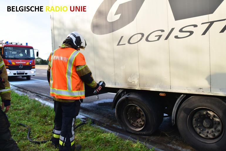 Oververhit wiel van vrachtwagen net op tijd kunnen blussen