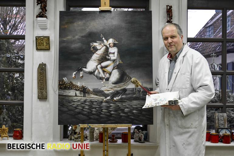Kuurne Brussel Kuurne met Peter Sagan als Napoleon op een steigerend wit paard