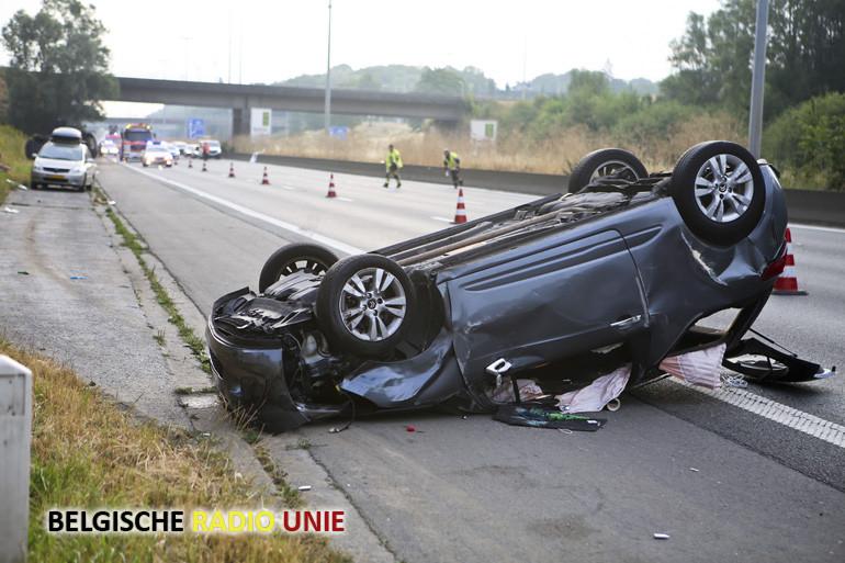 Zwaar ongeval op de E17 in Kortrijk