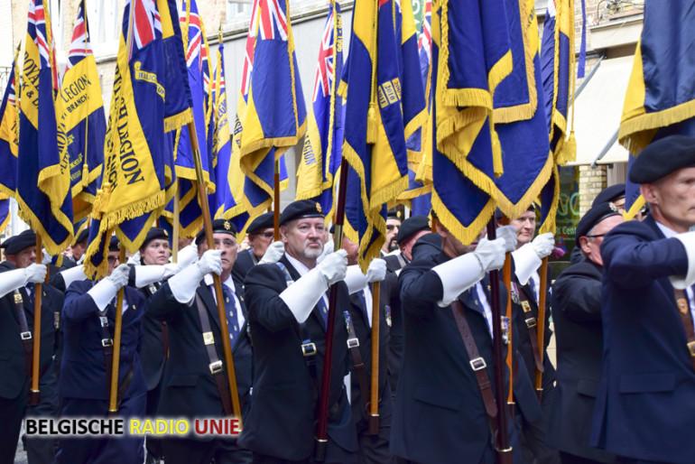 Honderd Dagen-ceremonie aan de Menenpoort in Ieper