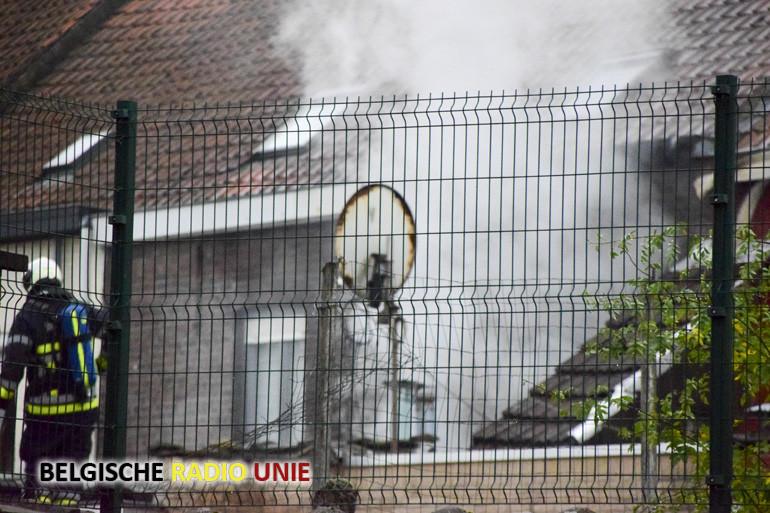 Woningbrand in de Schansstraat in Menen