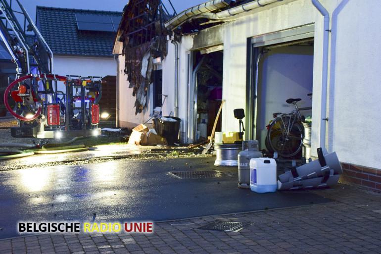 Woning volledig vernield door brand in Rekkem
